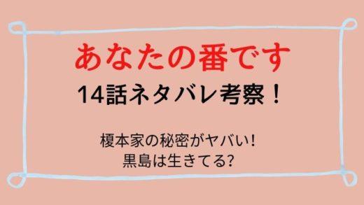 あなたの番です14話ネタバレ感想は榎本家の秘密がヤバすぎる!黒島は生きてる?