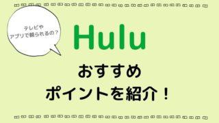 Huluはアプリやテレビで観られる?おすすめポイントは?