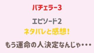 バチェラージャパン3 2話ネタバレ感想!
