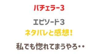 バチェラージャパン3 3話ネタバレと感想