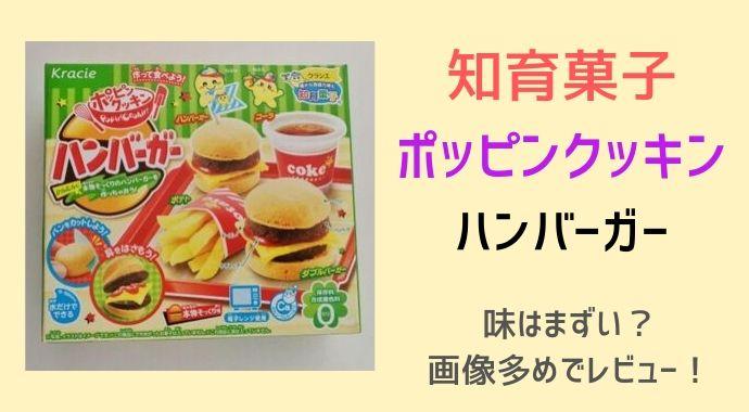 知育菓子ポッピンクッキンハンバーガーの味はまずい?食べた感想!