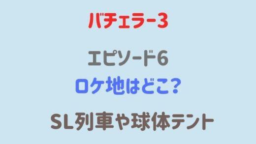 【バチェラー3】6話ロケ地のSL列車はどこ?球体テントやグランピング施設も!