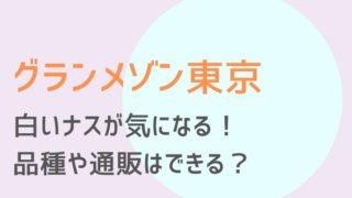 グランメゾン東京2話白ナス