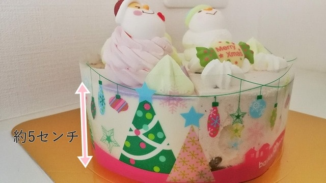 サーティワン2019年クリスマスパレット4の大きさ