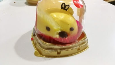 セブンイレブンプーさんケーキは顔が崩れる