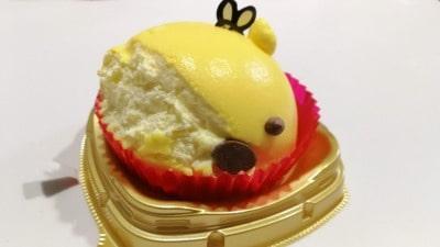 セブンイレブンプーさんケーキの顔が崩れた