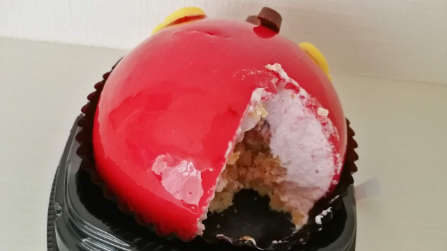 セブンのミッキーのおしりケーキも崩れやすい