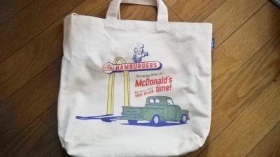 マクドナルド福袋のトートバッグ