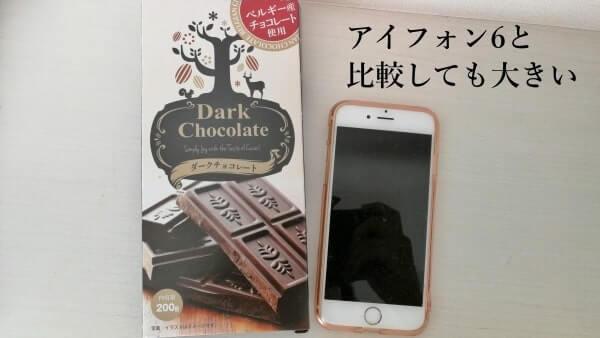 業務スーパーのベルギー産チョコレートをアイフォンと比較