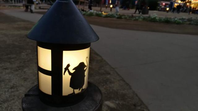 ムーミンバレーパークのランプが可愛い