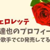 【バチェロレッテ】藤井達也のプロフィールや性格は?歌手でCDデビューしてる?