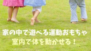 家の中で遊べる運動おもちゃ!室内で体を動かせる!
