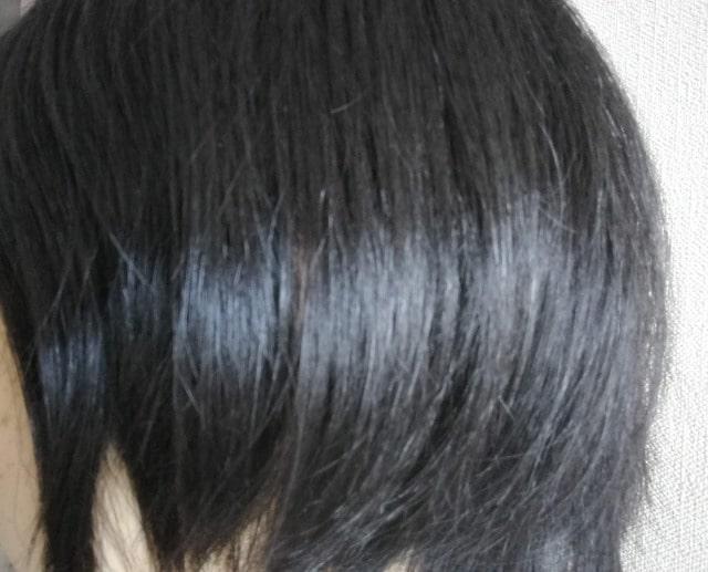 カミカシャンプーを使用後の髪