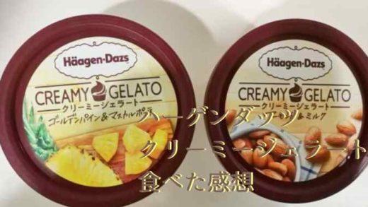 【ハーゲンダッツ】新作のアーモンド&ミルクのカロリーと味の感想!ゴールデンパインも!