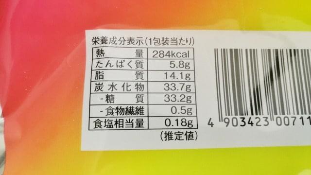 ローソンのシャリトロールの糖質