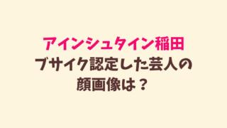 稲田がブサイク認定した芸人の顔画像