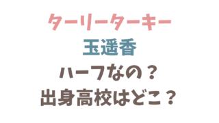 ターリーターキー玉遥香は韓国のハーフ?出身高校は大阪のどこ?