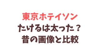 東京ホテイソンたけるは昔より太った?画像を比較