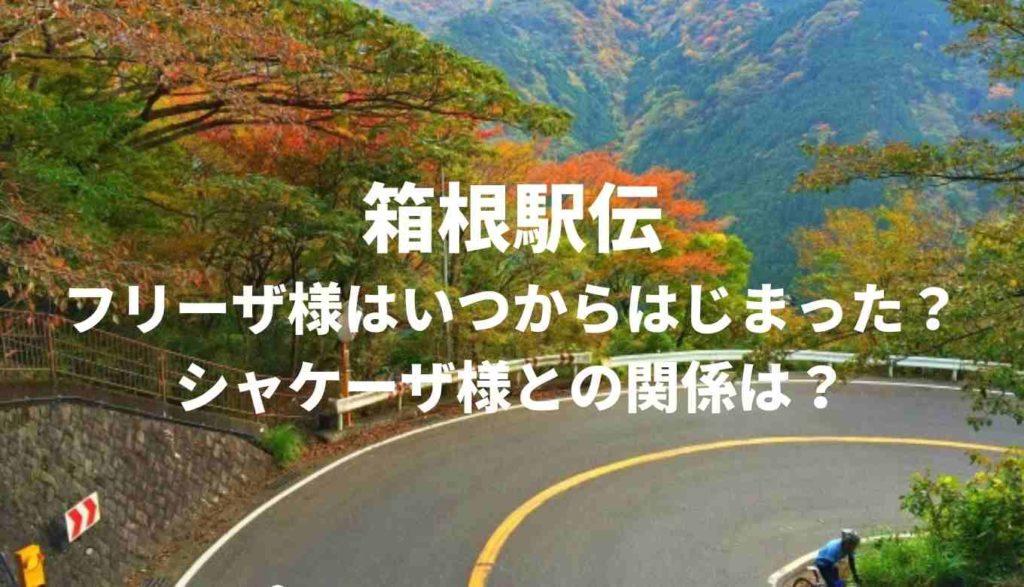 箱根駅伝フリーザ様はいつから出るようになった?シャケーザとの関係は?