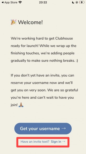 Clubhouseで招待されたら電話番号を登録する