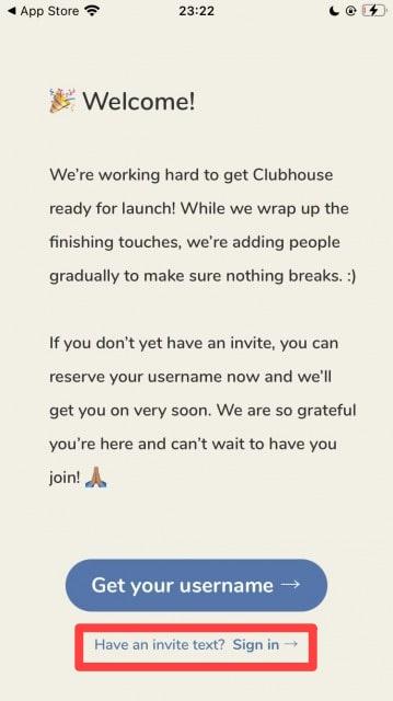 Clubhouseで招待してもらって電話番号を登録する