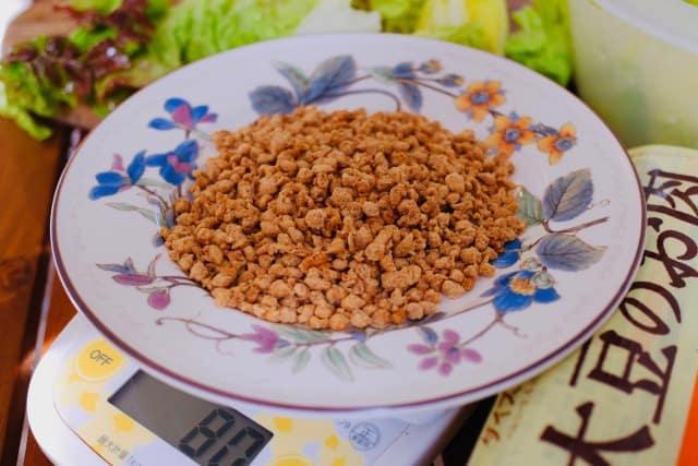 大豆ミートのと高野豆腐の戻し方の差