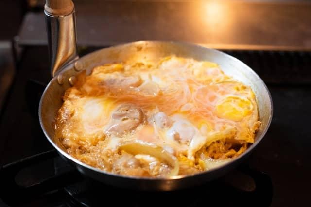 親子丼弁当の持って行き方:作る時のポイントは卵にしっかり火を通す