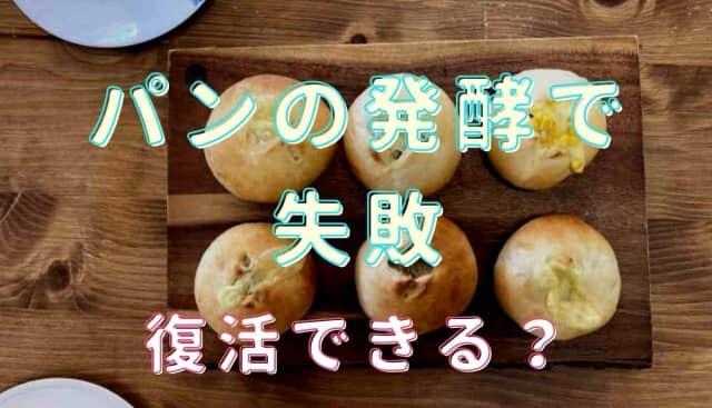 パンの発酵で失敗したら復活できる?