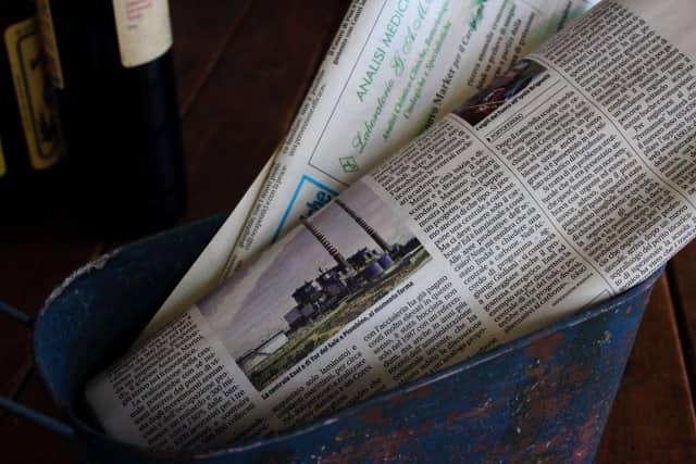 台湾カステラの型がない!新聞紙で代用
