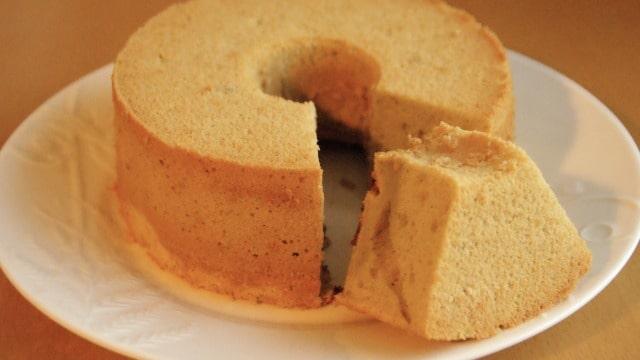 シフォンケーキの冷まし方