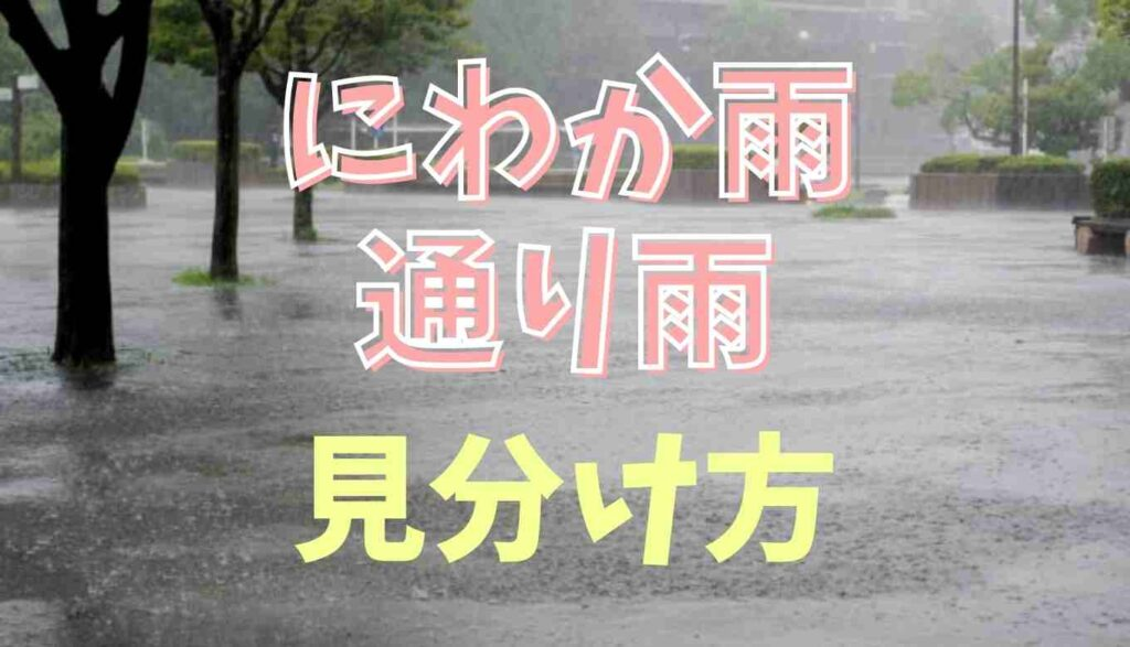 にわか雨と通り雨の違い!見分け方のポイント