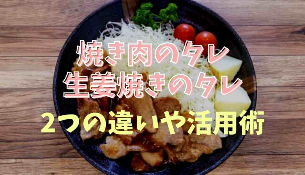 生姜焼きのタレと焼き肉のタレの違い