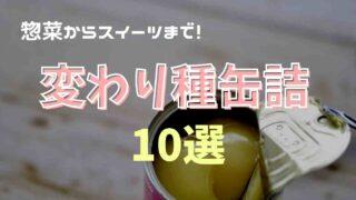 缶詰の変わり種商品がすごい!おすすめ缶10選!