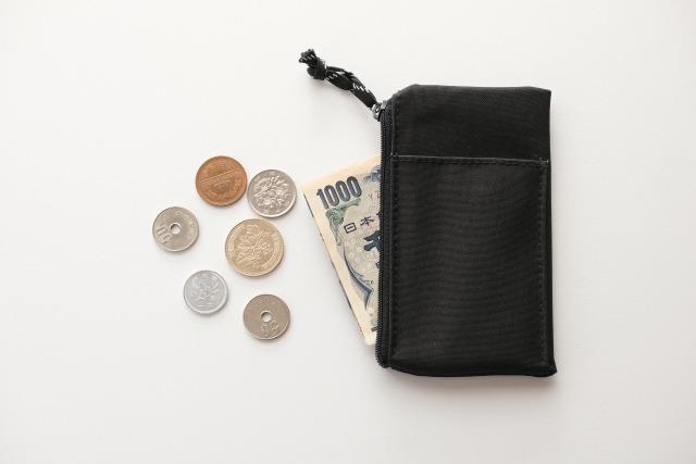 お守りをつけるところ:財布