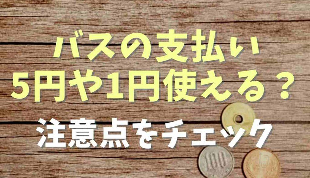バスは5円玉や1円玉は使える?注意点もチェック