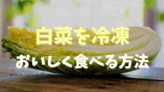 冷凍の白菜はまずい?おいしく食べる保存方法を調査