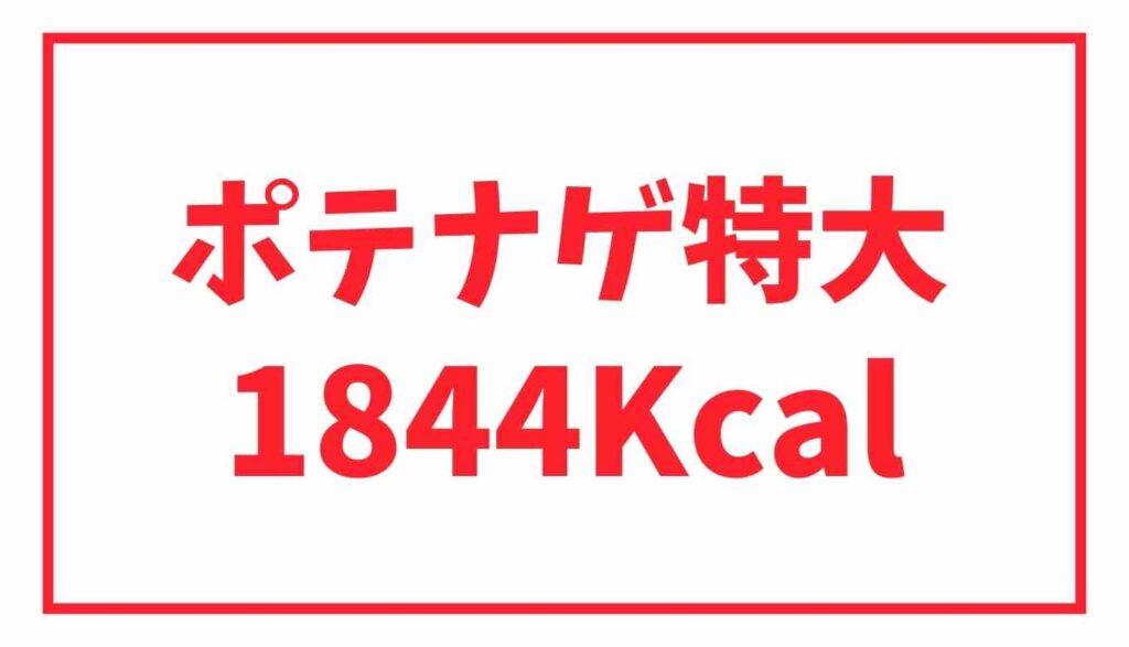 ポテナゲ特大のカロリーは1844Kcal